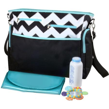 Diaper bag tote Large and roomy chevron baby bag
