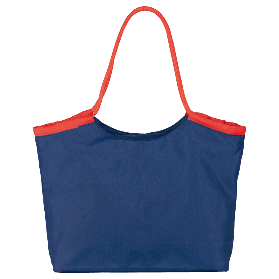 beach bag with zipped pocket