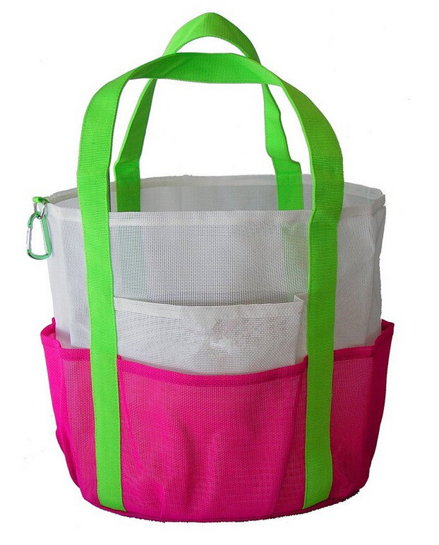 Customize mesh beach tote
