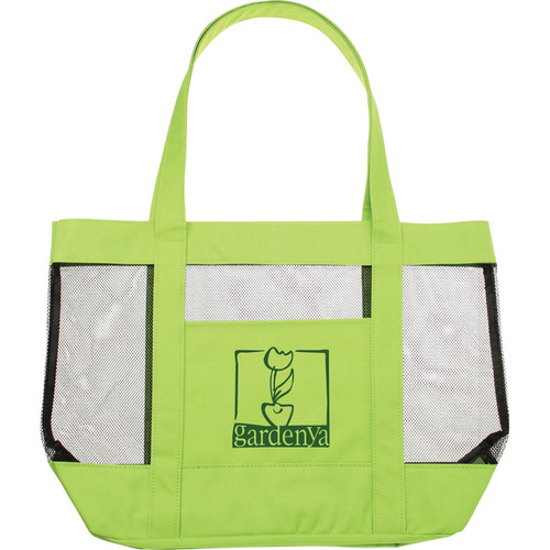 Green Mesh Beach Tote