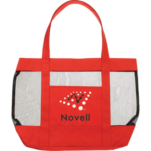 Red Mesh Beach Tote