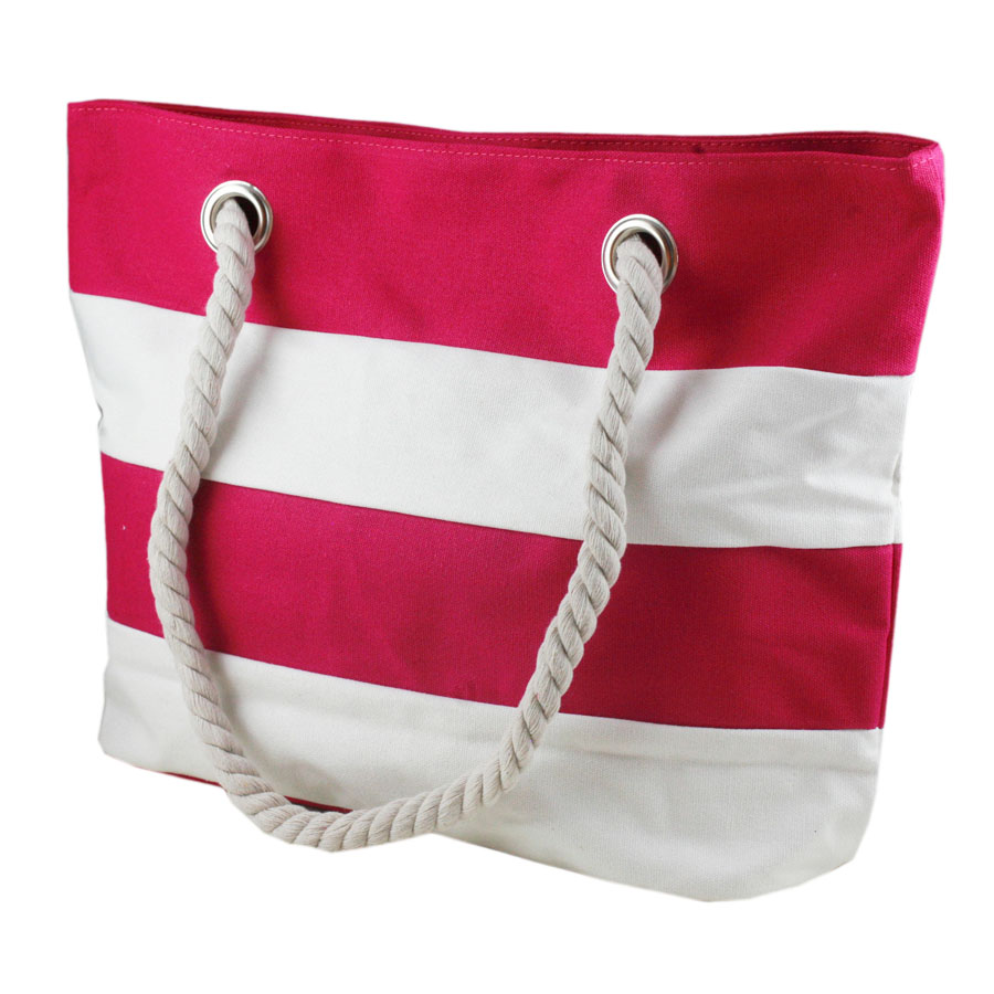 Canvas beach bag with rope handle - Beach bag