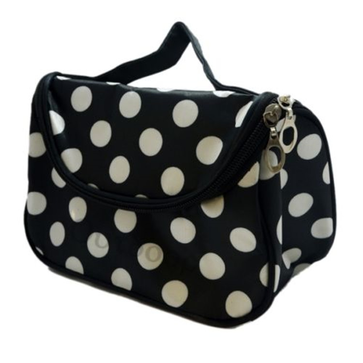 Cosmetic Make Up Bag white spot