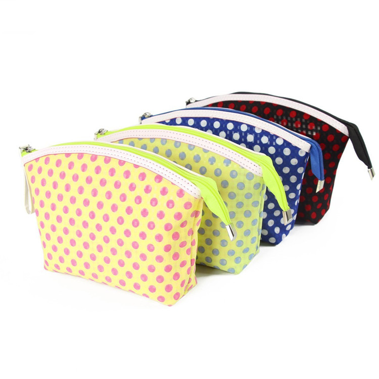 PVC gauze cosmetic bag