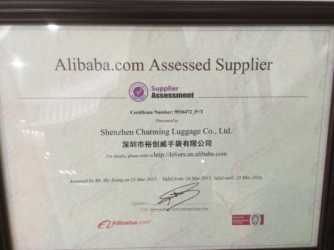 Assessed Supplier by Alibaba