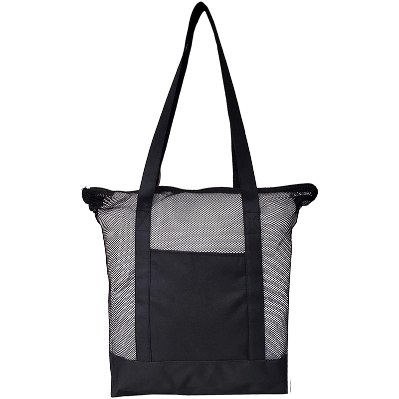 Mesh Beach Tote Bag Black